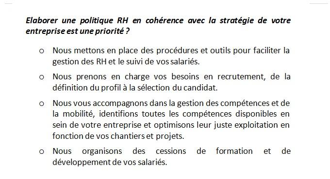 Elaborer une politique RH en cohérence avec la stratégie 2